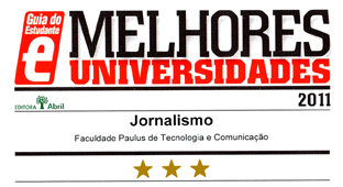 Guia do Estudante - Jornalismo FAPCOM - 3 Estrelas